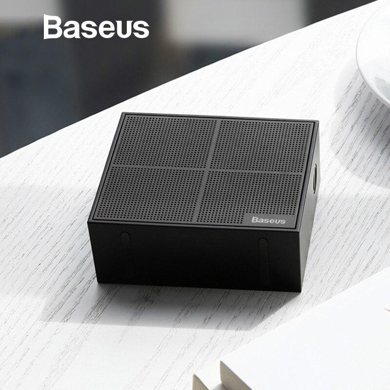 Baseus E05 Altavoz Bluetooth portátil al aire libre caja cuadrada altavoz inalámbrico con 15 horas de Super largo tiempo de juego bajo la caja de sonido