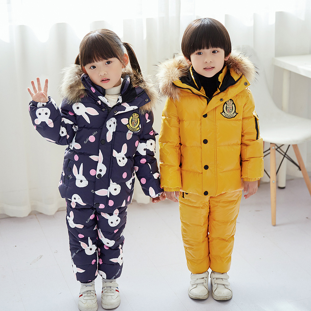 -30 degree Russia Winter childrens clothing girls clothes sets for new years Eve boys parka jackets coat down snow wear -30 degree Russia Winter childrens clothing girls clothes sets for new years Eve boys parka jackets coat down snow wear