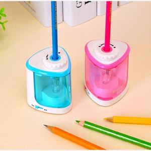 Image 3 - 電動鉛筆削り静止削り子供のための自動機械式かわいいかわいい文房具学校やオフィス用品