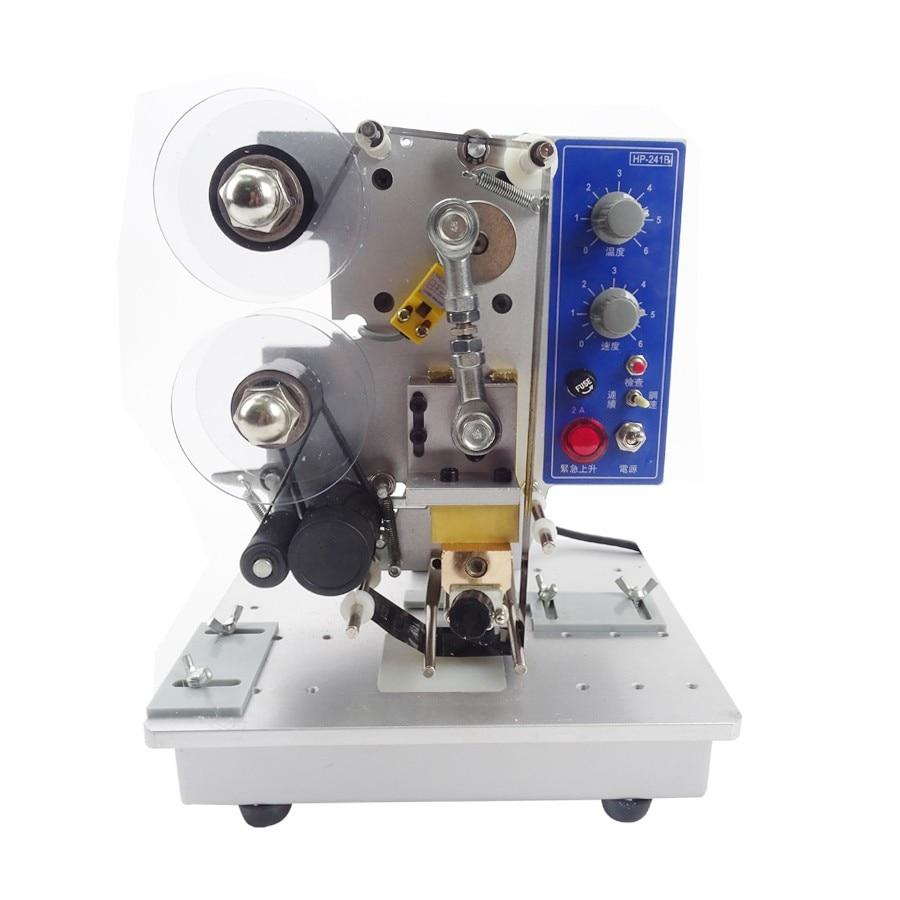 Electric Printer Ribbon Date Coder Semi Automatic Plastic Bag Printing & Coding Hot Stamping Machine HP-241B