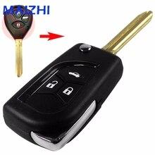 Maizhi изменение складной 3 Пуговицы удаленного Uncut Клинок флип Ключи В виде ракушки для Toyota Camry Corolla Прадо укладки