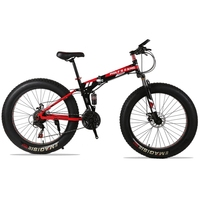 Russia Only 26 4 0 Inch 7 21 Speed Folding Obese Bike Double Disc Brakes