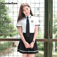 2019 Japanese School Uniform For Girls Sailor Tops+Tie+Skirt+Socks Students Clothes For Girl school uniforms set