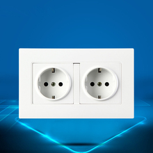 146 type PC Panel Double German Standard Outlet EU Standard Outlet 16A German Type Wall Outlet стоимость