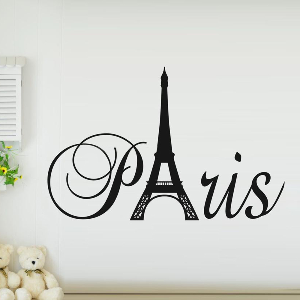 New 2015 DIY Wall Sticker Mural Home Art Decor Paris Art Eiffel Tower  Bedroom Living Room ...