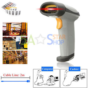 G601 Free Shipping Portable Laser Barcode Scanner Handheld Bar Code Reader Long Scan free shipping wireless code barcode laser scanner reader long distance induction charger new