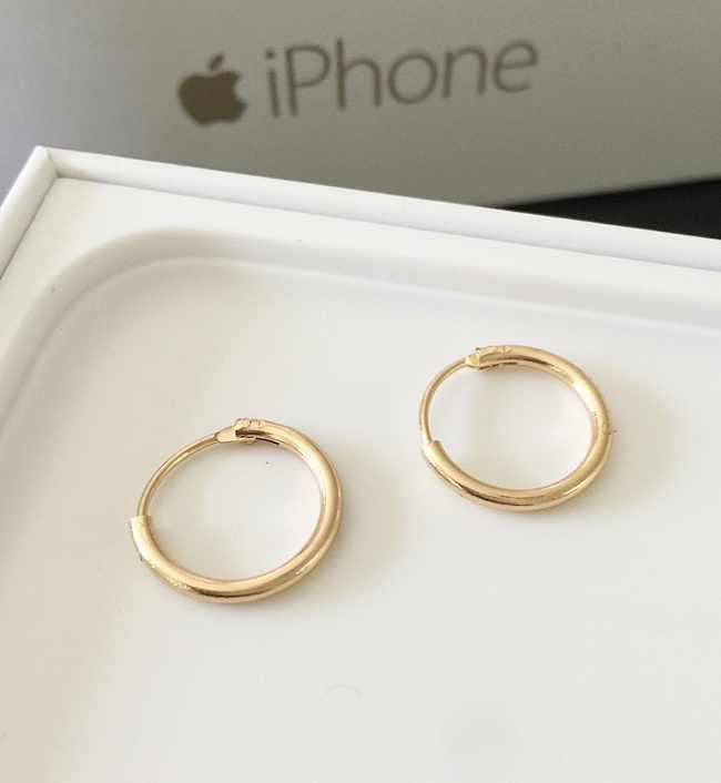 חדש תכשיטים אבץ סגסוגת מעגל עגילי אוזן טבעות זוג של גברים ונשים