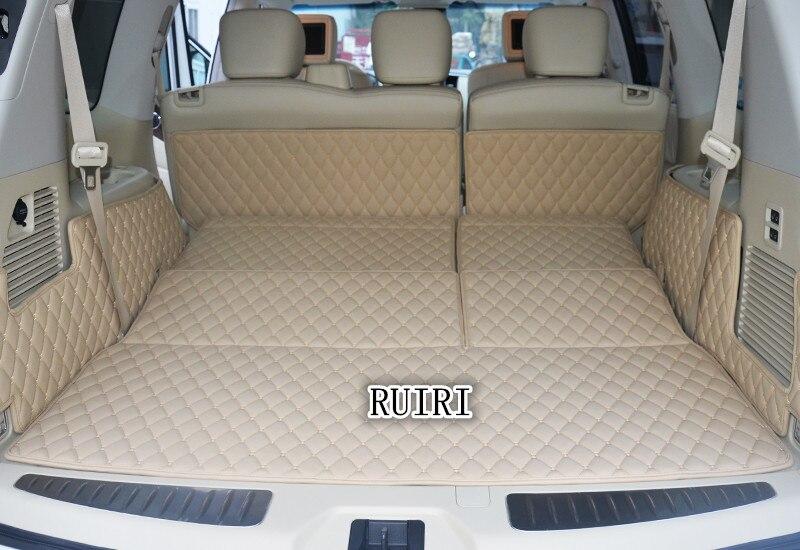 Livraison gratuite! Spécial tronc tapis pour Infiniti QX80 8 sièges 2018-2014 étanche durable démarrage tapis cargo liner pour QX80 2017