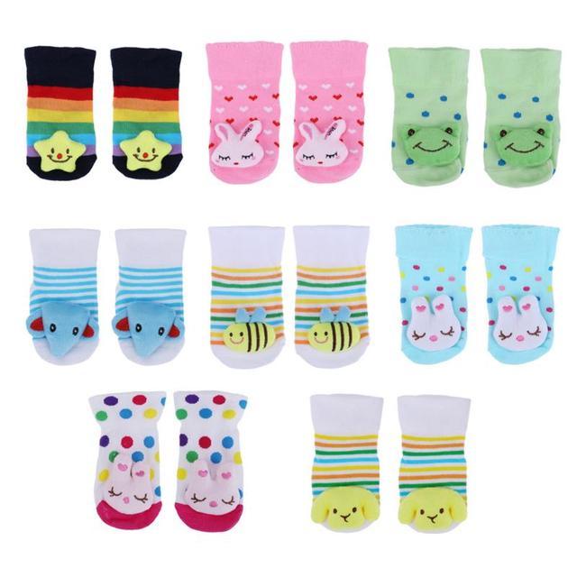 cotton baby socks christmas socks for newborns girls boys animal anti slip with rubber soles child