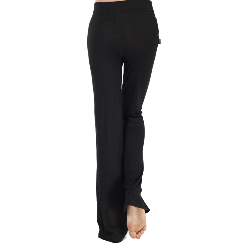 Sport Wide Leg Pants Modal High Waist Stretch Women Flare Pants Dance Club Loose Long Trousers (3)