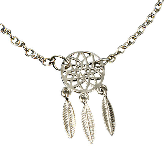 Fashion Gold Silver Plated Dreamcatcher Charm Bracelets For Women Cool Dream Catcher Charm Bracelet