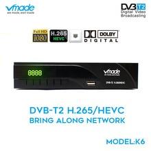 Vmade מלא HD 1080p DVB t2 דיגיטלי יבשתי אות מקלט DVB t2 8943 h. 265 תמיכת YouTuBe dolby AC3 MPEG 2/4 ממיר
