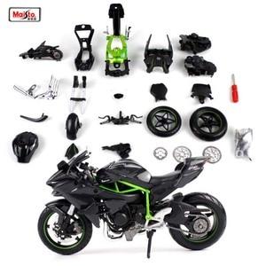 Image 2 - Maisto 1:12 カワサキニンジャ H2R H2 R 組み立てる DIY オートバイバイクモデル子供のおもちゃのギフト送料無料新ボックス
