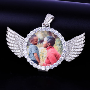 Image 4 - Angel Wing Custom Photoจี้เหรียญจริงเครื่องประดับHip Hop