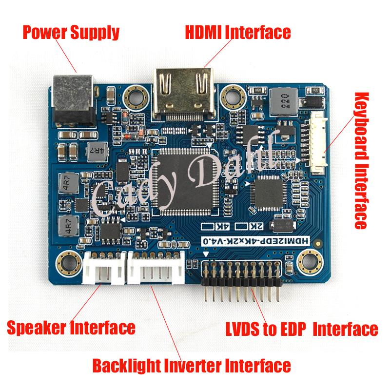 Prix pour 2 K HDMI LVDS à EDP Signal Carte Contrôleur pour Raspberry PI 3 1920x1080 EDP Signal 2 Voies 30 Broches LCD Panneau D'affichage