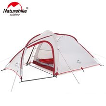 NatureHike Hiby Family Tent 20D Silicone Fabric Waterproof Double-Layer 2 Person 3 Season Aluminum Rod Outdoor Camping Tent good quality flytop double layer 2 person 4 season aluminum rod outdoor camping tent topwind 2 plus with snow skirt 3colors