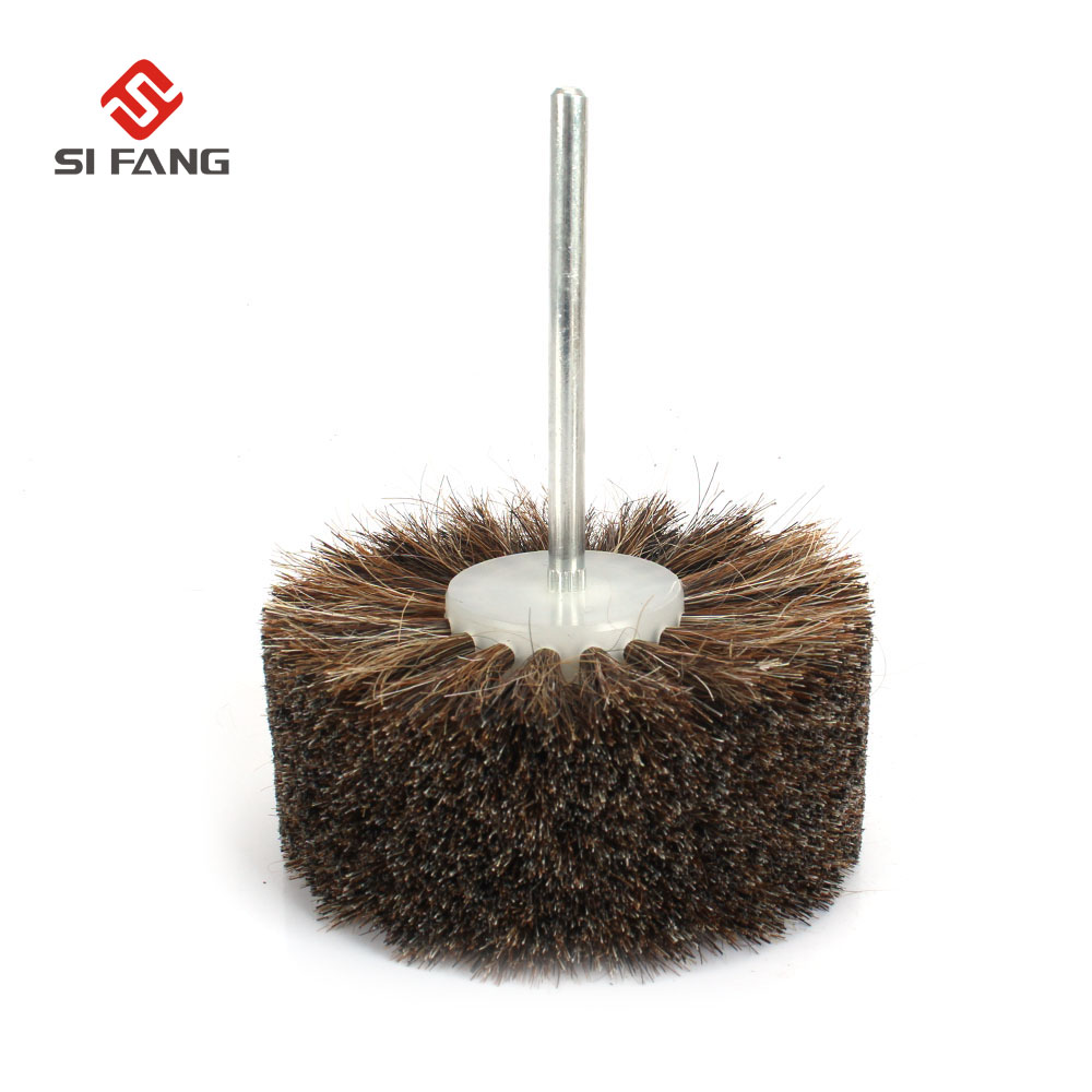 Abrasive Wire Grinding Flower Head Abrasive Wheel Horsehair Brush Woodwork Polishing Brush Bench Grinder For Wood Furniture
