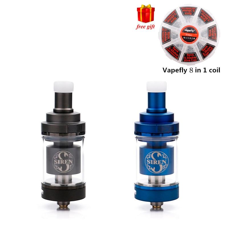 Free gift!!!Digiflavor Siren V2 GTA MTL Tank 22mm /24mm Version 2ml /4.5ml Tank Atomizer Airflow Adjustment e cigarette atomizer