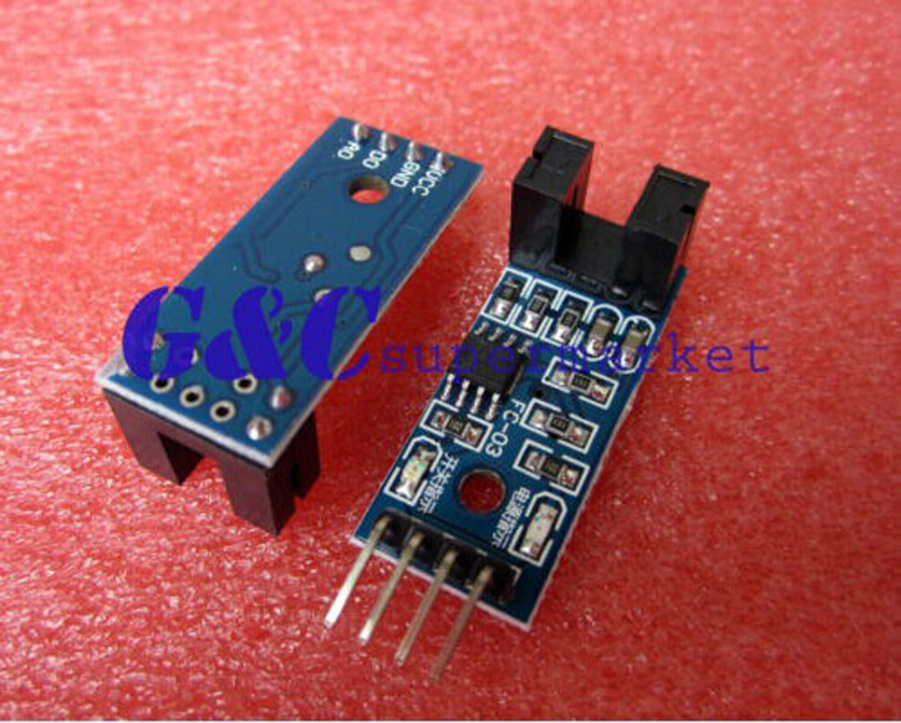 1PCS Slot-type Optocoupler Module Speed Measuring Sensor for Motor test