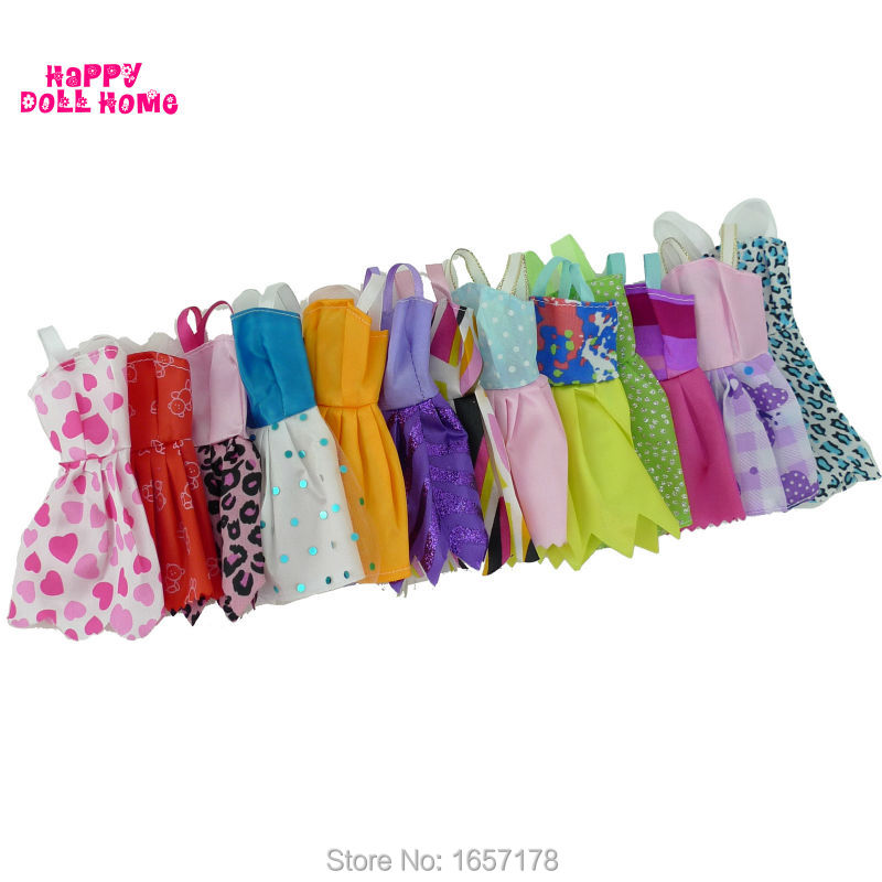Random-12-Mix-Sorts-Beautiful-Handmade-Party-Dress-Fashion-Clothes-For-Barbie-Doll-Kids-Toys-Gift-Play-House-Dressing-Up-Costume-1