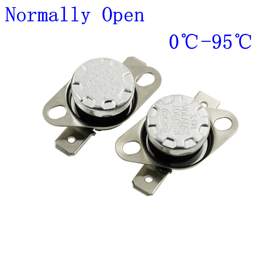 KSD301 AC 250 V 10 A 65 C Celsius NC contrôle de température Interrupteur Thermostat