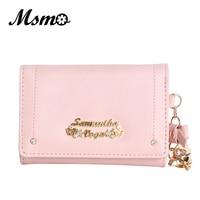 Cardcaptor Sakura Purse Wallet Cute Anime Leather Trifold Slim Mini Wallet Women Small Clutch Female Purse
