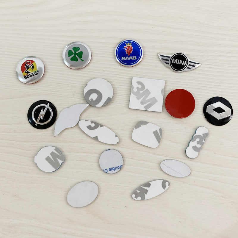 100 pièces 21mm 16mm 14MM 11mm tout logo trèfle ABARTH SAAB noir bleu rouge blanc clé télécommande Fob emblème Badge Logo autocollant