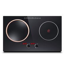 NL2508 Embedded Ceramic Home One Concave One Plat Surface Double Furnace Bulit-in Induction Hobs Dual-cooker Intense Fire