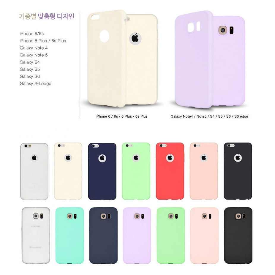 Для Iphone X 8 6 6 S 7 samsung Galaxy S5 S6 S7 Edge S8 S9 Plus Note 8 3 4 5 тонкий карамельный чехол ультра тонкий мягкий силиконовый чехол