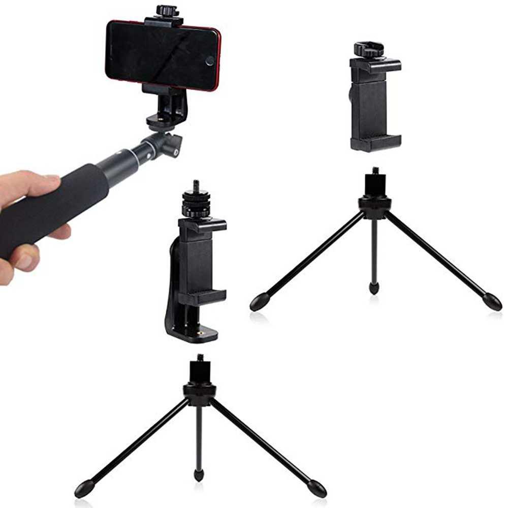 Rovtop ขาตั้งกล้องอะแดปเตอร์ Mount โทรศัพท์มือถือผู้ถือ Clipper แนวตั้ง 360 หมุนขาตั้งขาตั้งกล้องสำหรับ iPhone X 7 Plus Samsung ขาตั้งกล้อง