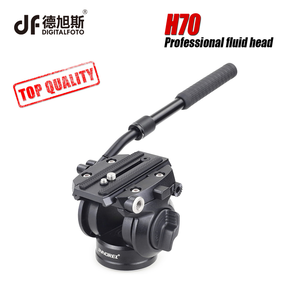 DIGITALFOTO INNOREL H70 DSLR camera Video Manfrotto 8kg load Fluid Tripod monopod ball Head for camera tripod monopod ashanks professional aluminum camera tripod mini portable monopod with ball head for dslr photography video studio load 10kg