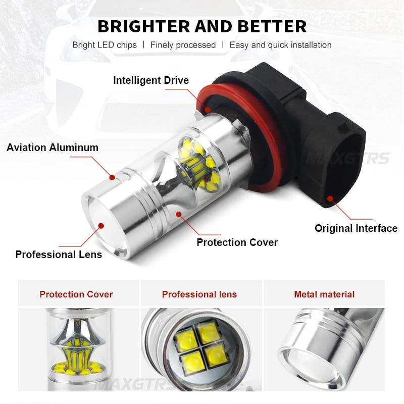 2x H7 9006 HB4 9005 HB3 H8 H11 Φώτα LED αυτοκινήτου - Φώτα αυτοκινήτων - Φωτογραφία 2