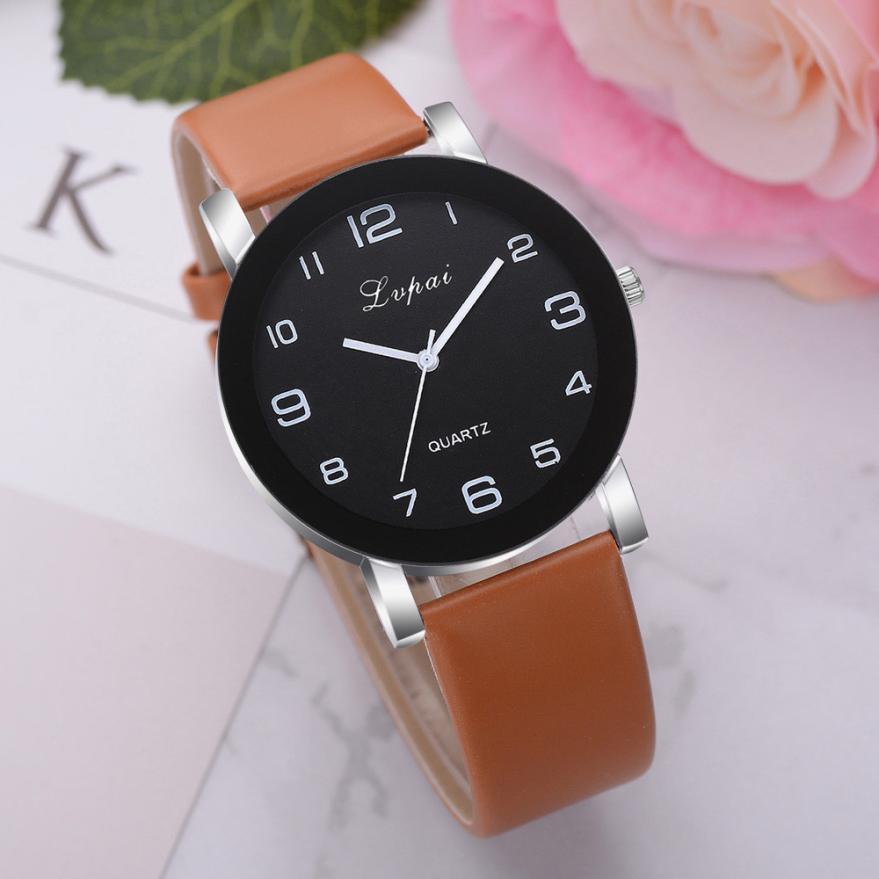 LVPAI Woman's Watch  Fashion    Luxury Ladies   Quartz Wristwatch Top Brand  Leather Strap  Watch  Women Watches Reloj  18MAY8 1