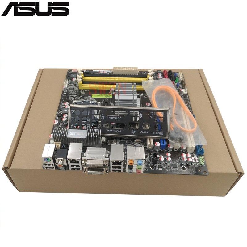 original Used Server motherboard For Asus P5N-VM WS Socket 775 Maximum 4*DDR2 32GB 6xSATAII ATX