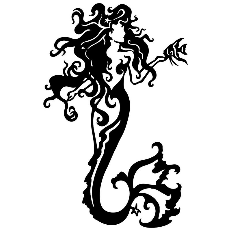 97cm151cm Tribal Mermaid Fantasy Ocean Girl Car Sticker