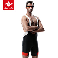 Santic Pro Men Cycling Bib Shorts MTB Mountain Bike Breathable Bib Shorts Gel Padded Tights Triathlon Bicycle Pants Under Wear