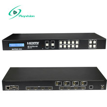 Playvision 4K HDMI Matrix Switcher 4X4 18G 4:4:4 HDMI 2.0 HDCP 2.2 3D IR EDID RS232(China)