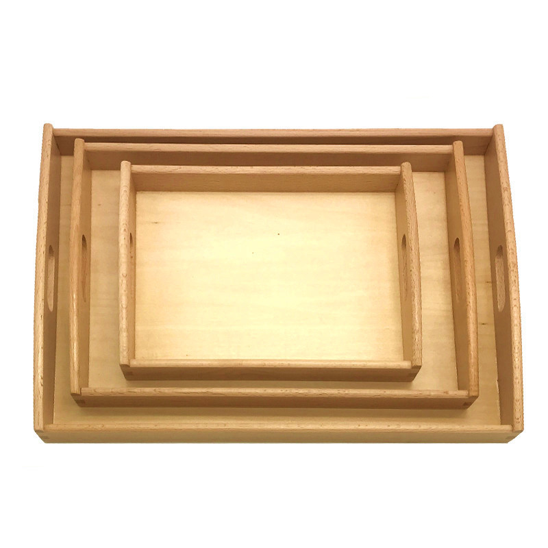 New Wooden Baby Toy Montessori Toy Tray Baby Educational Toy Parts Tray wooden kissing pigs toy