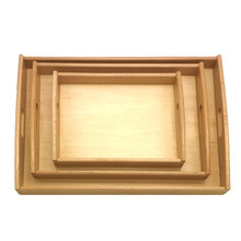 New Wooden Baby Toy Montessori Toy Tray Baby Educational Toy Parts Tray