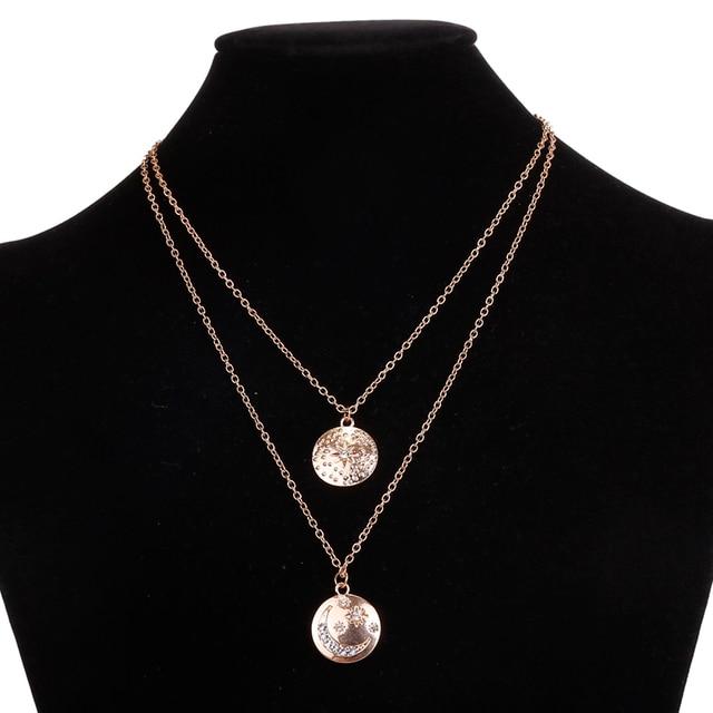 collier bohème sautoir demi lune et étoile et pierre de zirconium 46 cm 2