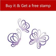 YaMinSanNiO Dancing Butterflies Dies Metal Cutting for Card Making Scrapbooking Embossing Stencil Craft Animal
