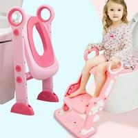 KIDSRUN Potties Seats 2 Colors Baby Potty Training Seat Children's Potty Baby Toilet Seat With Adjustable Ladder Infant Toilet