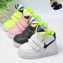 Size 21-30// Kids Girls Slippers Glowing Luminous Shoes Baby Infant Shoes Light LED Slippers for Kids  Evening Toddlers Shoes