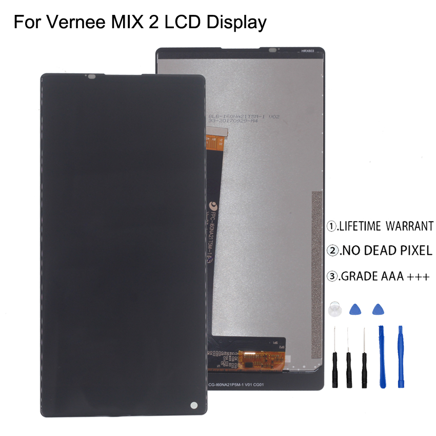 Mobile Phone Parts Cheap Sale Original For Vernee Mix 2 Lcd Display Touch Screen Digitizer Assembly For Vernee Mix 2 Screen Lcd Display Free Tools Mobile Phone Lcds