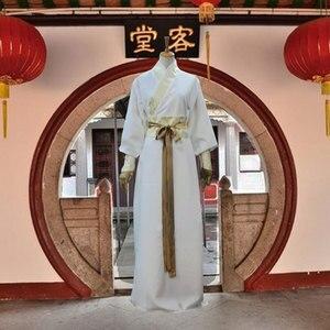 Image 2 - Танцевальный Костюм Рыцаря для взрослых, одежда китайской династии Тан, мужской костюм ханьфу, традиционный китайский костюм, костюм меча 89