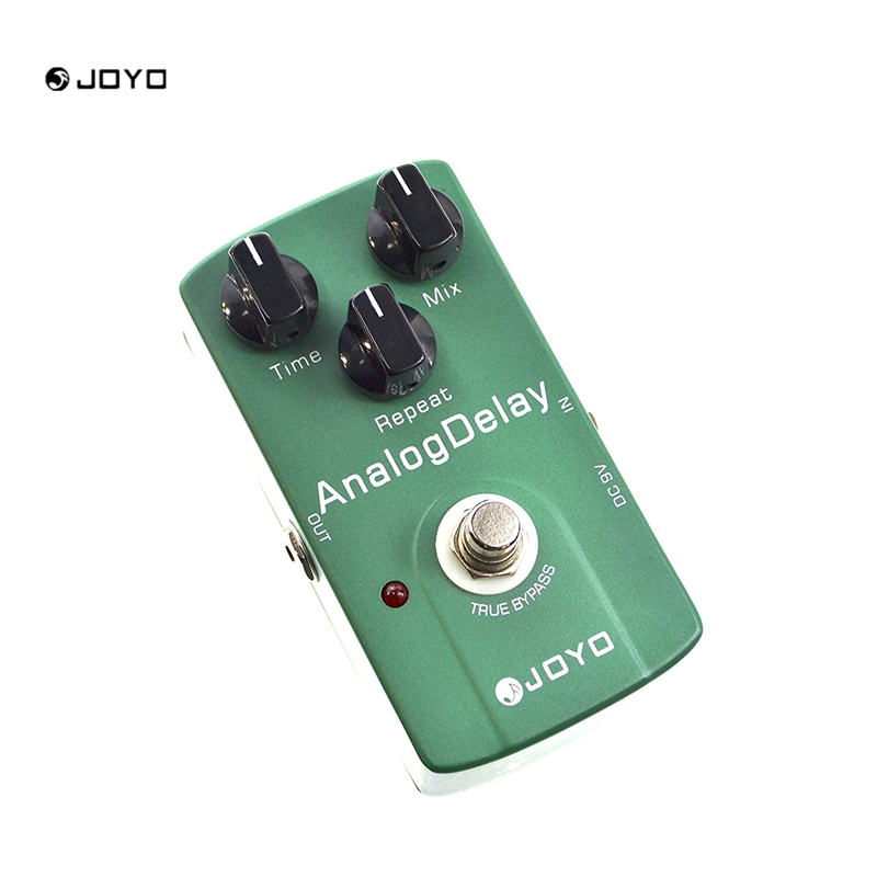 JOYO JF33 Analog Delay Guitar Effect Pedal Digital Delay Stompbox Time Mix Repeat Knob Mild Mellow Circuit Delay True Bypass joyo jf 304 new product time magic delay mini smart effect pedal analog sounding digital delay 600ms ture bypass free shipping