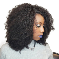 Afro Kinky Curly Hair Brazilian Hair Weave Bundles 100% Human Hair Extensions Remy Natural Color 1 PC Only 10 26inches Bundles