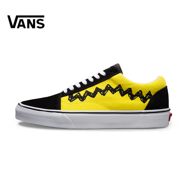 fc3e8068b05 Original VANS X PEANUTS male shoes   Women s Classic Old Skool Low-top  Skateboarding Shoes light Sneakers Canvas VN0A38G1OHJ
