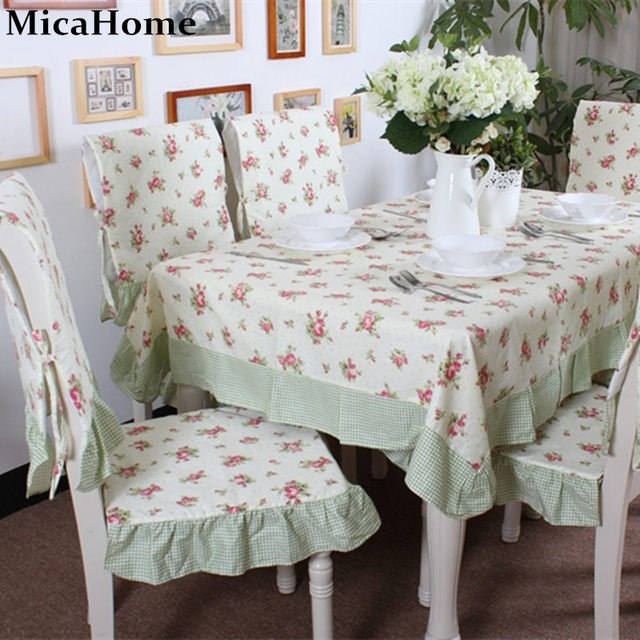 New Arrival 100% Cotton Dining Table Cloth Rustic Tablecloth Dining Table  Chair Cover Fabric