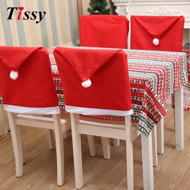 1 unid decoraciones de navidad fundas para sillas de comedor